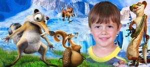 Макет для детской кружки - Ледниковый период