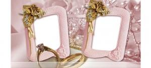 Макет для кружки - Свадебные кольца, рамки