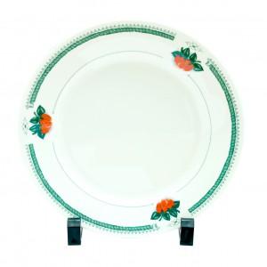 Тарелка керамическая белая клубника