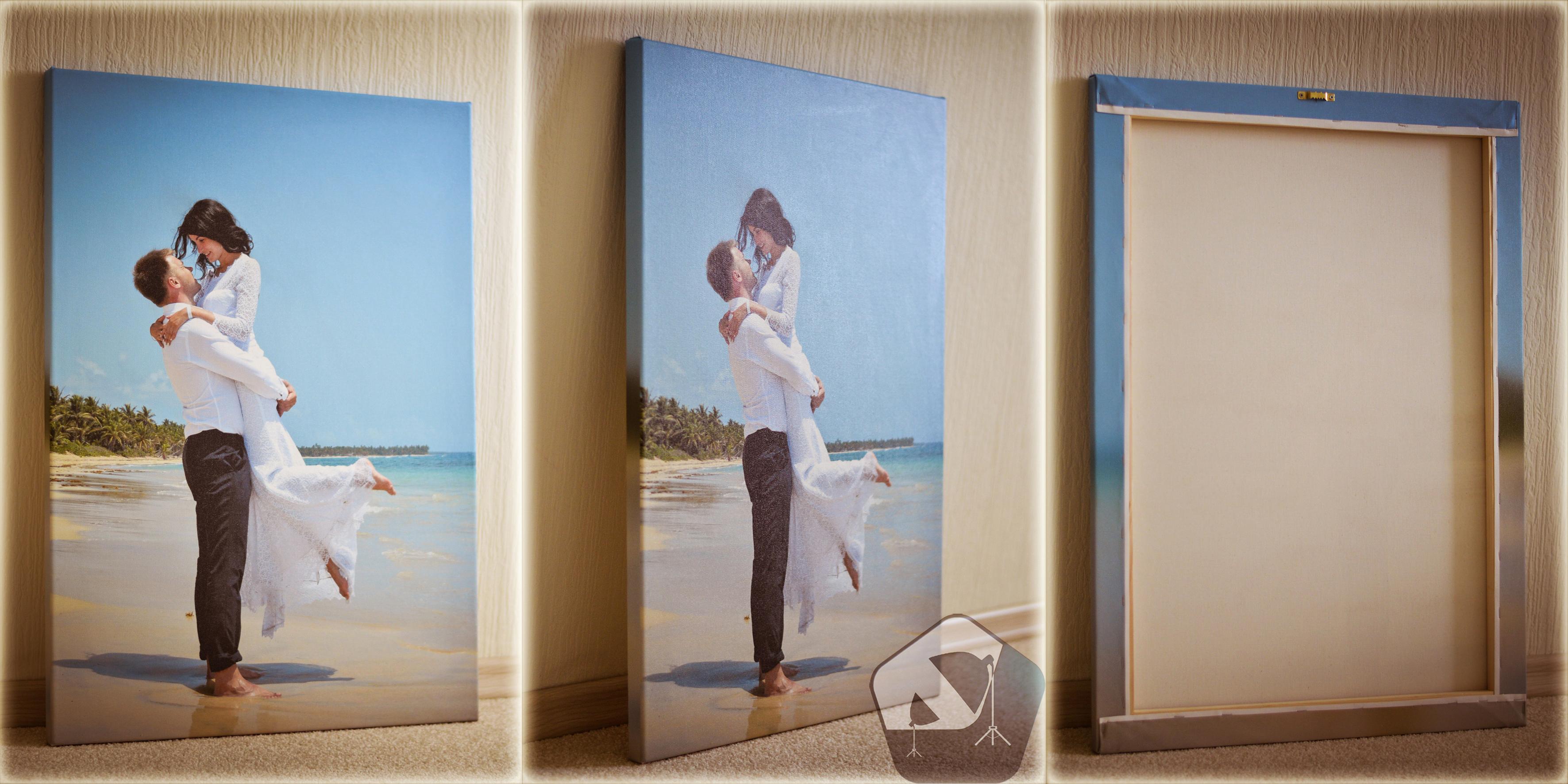Печать свадебного фото на холсте 50x70 см = 1830 руб.