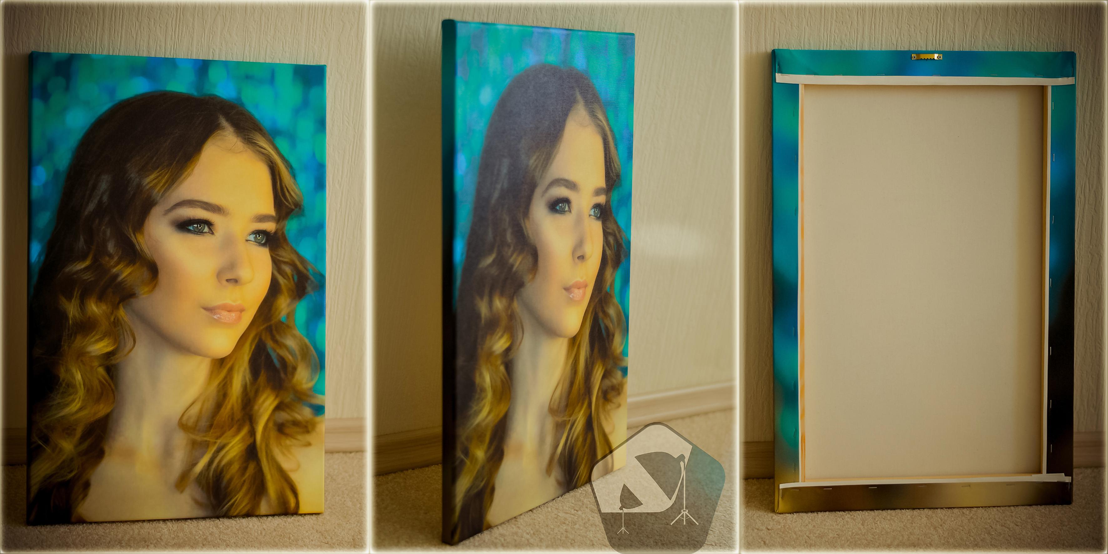 Печать портрета на холсте с натяжкой на подрамник 40x60 см = 1455 руб.