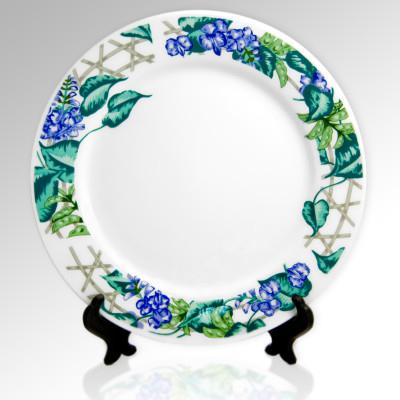 Тарелка керамическая малая с рисунком, d=20 см, Тарелка с орнаментом «Китайский десерт»